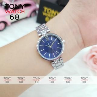Đồng hồ nữ đeo tay chính hãng Kimio dây kim loại mặt tròn màu bạc chống nước thumbnail