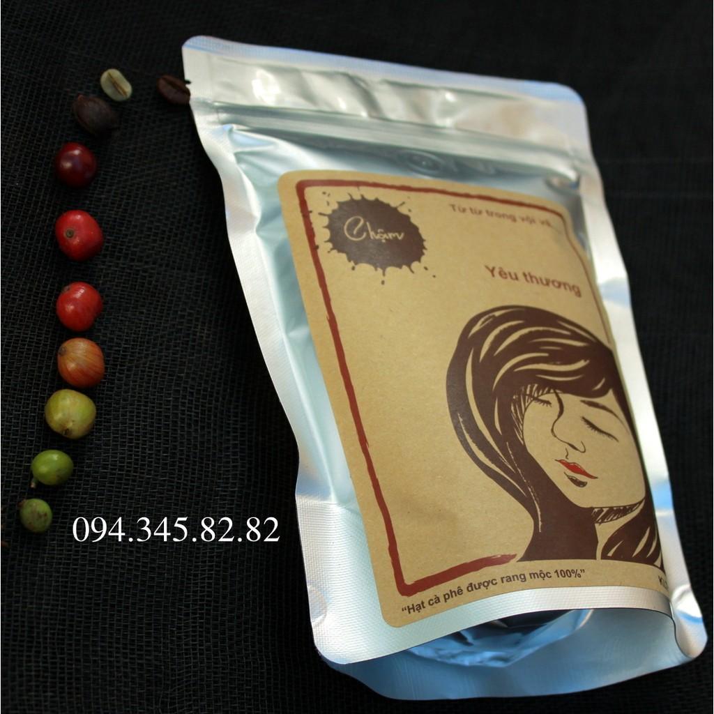 Combo 4 bịch + tặng 01 phin nhôm pha cà phê nguyên chất Chậm Coffee [250gram/bịch]