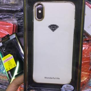 ốp iphone X ốp tráng gương lưng trong