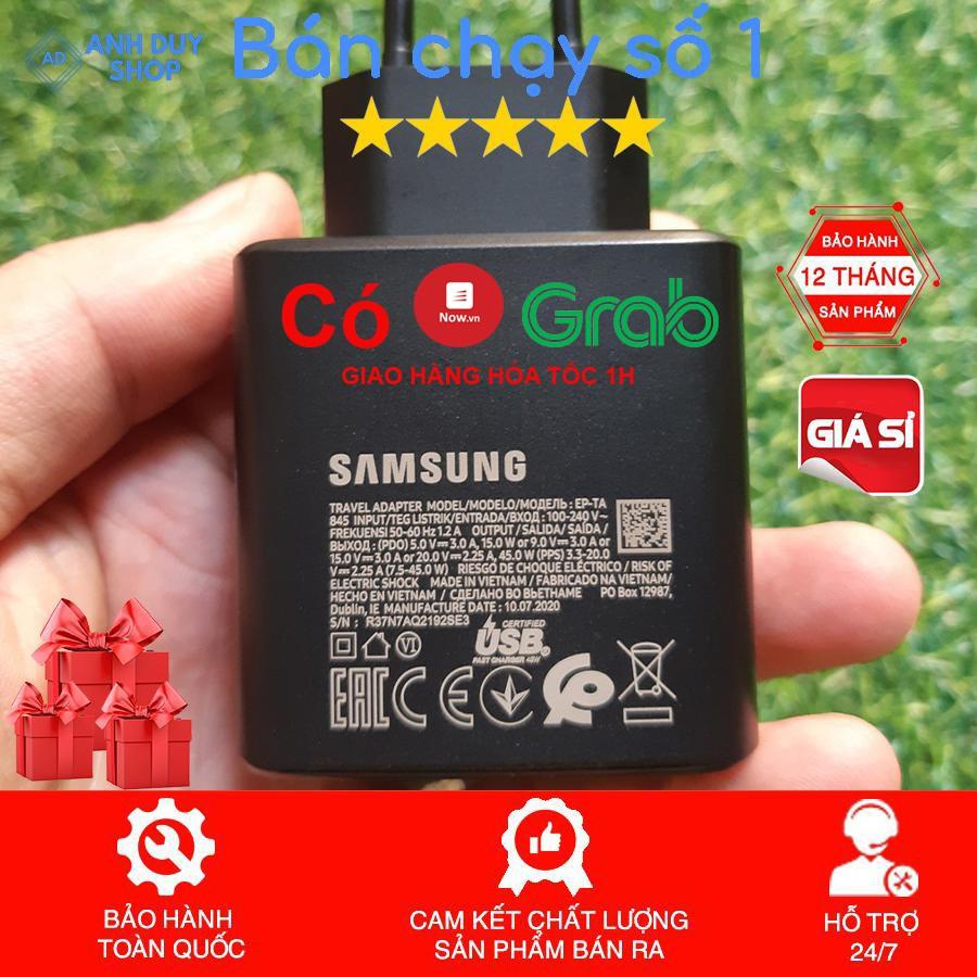 Bộ sạc nhanh Samsung 45w chính hãng sạc siêu nhanh Note 10 Plus/S20 Ultra Note 10 Plus 5G/Note 20/Note 20 Ultra