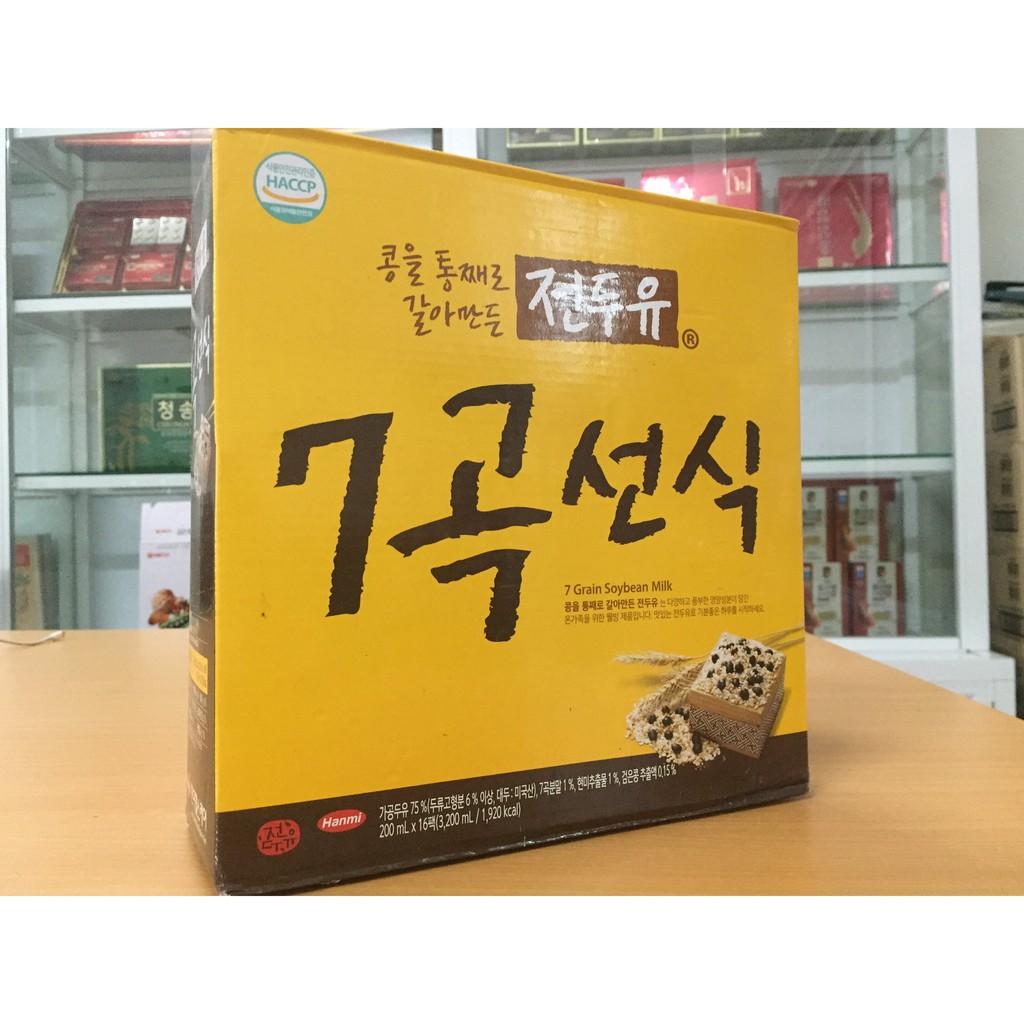 [Hanmi] - Sữa Hạt Hàn Quốc Ngũ Cốc 7 Vị 200ml (4 hộp, 8 hộp, xách 16 hộp) - Sữa hạt Hàn Quốc Hanmi