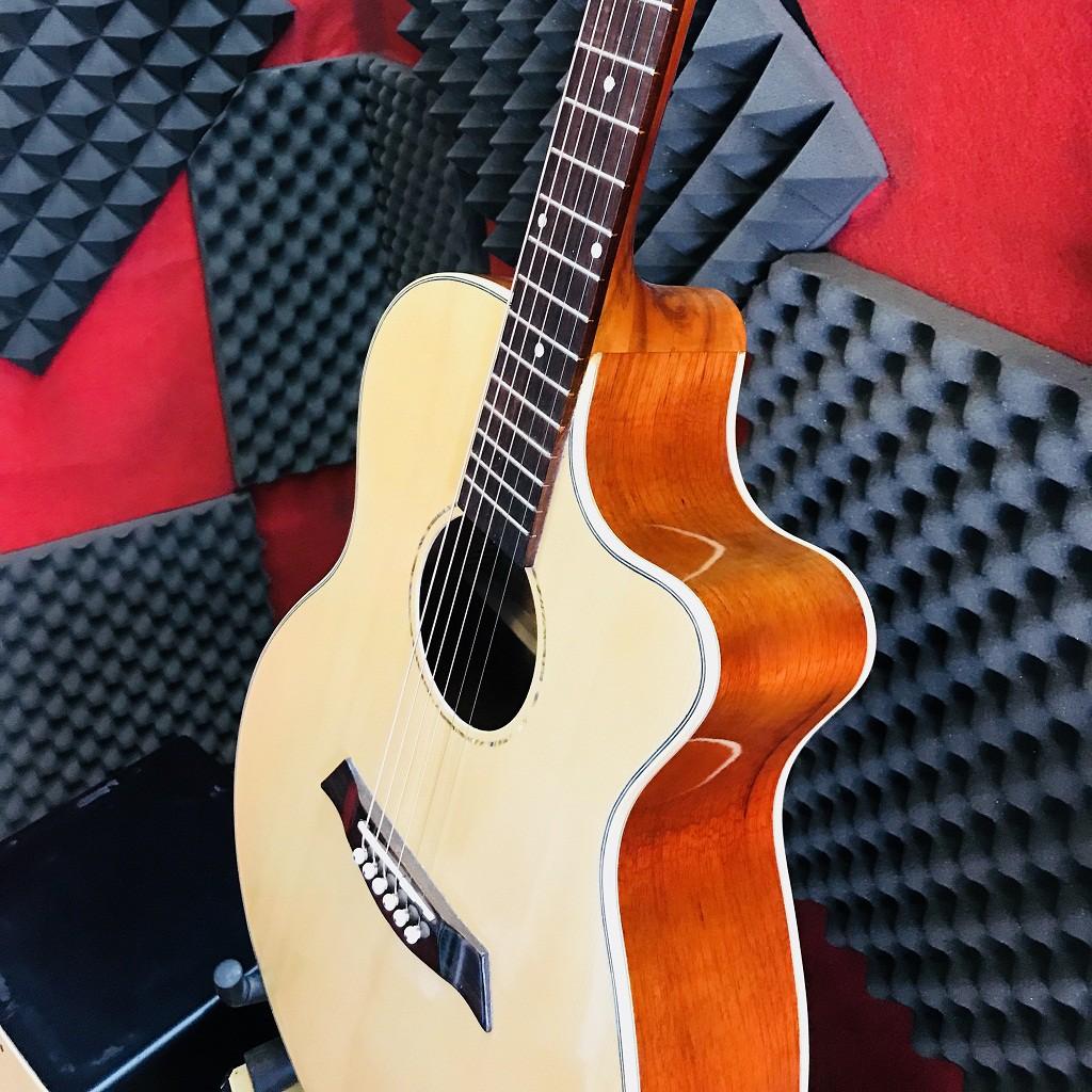 đàn ghita acoustic gỗ nguyên tấm