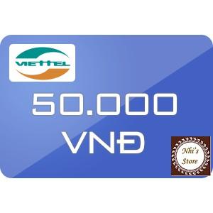 Mã thẻ Viettel 50k (thẻ cào Viettel 50.000đ) - 2980927 , 323847802 , 322_323847802 , 47500 , Ma-the-Viettel-50k-the-cao-Viettel-50.000d-322_323847802 , shopee.vn , Mã thẻ Viettel 50k (thẻ cào Viettel 50.000đ)