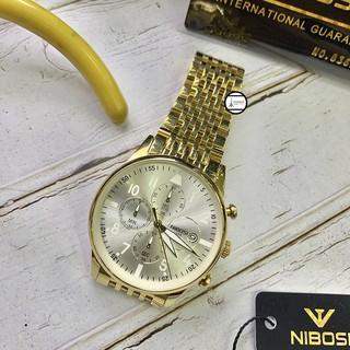 cho xem cho thử đồng hồ nam Nibosi 2368 dây kim loại sang trọng lịch lãm chống nước chống xước bảo hành 12 tháng