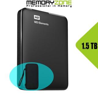 Ổ cứng di động Western Digital Elements 1.5TB WDBU6Y0015BBK-WESN - Bảo hành 2 năm tại WD Việt Nam