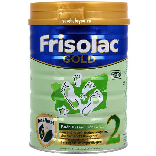 Thanh lí Sữa Frisolac Gold 2. 900g (date 04/04/2019)