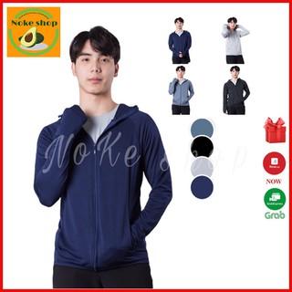 Áo chống nắng nam chất vải thông hơi có mũ trùm, áo khoác nắng nam dài trùm tay có mũ thumbnail