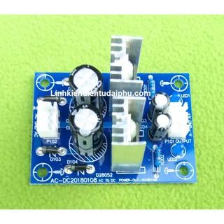 Mạch chuyển nguồn AC đôi 12V sang điện áp DC + - 12V dùng cho mạch Preampli