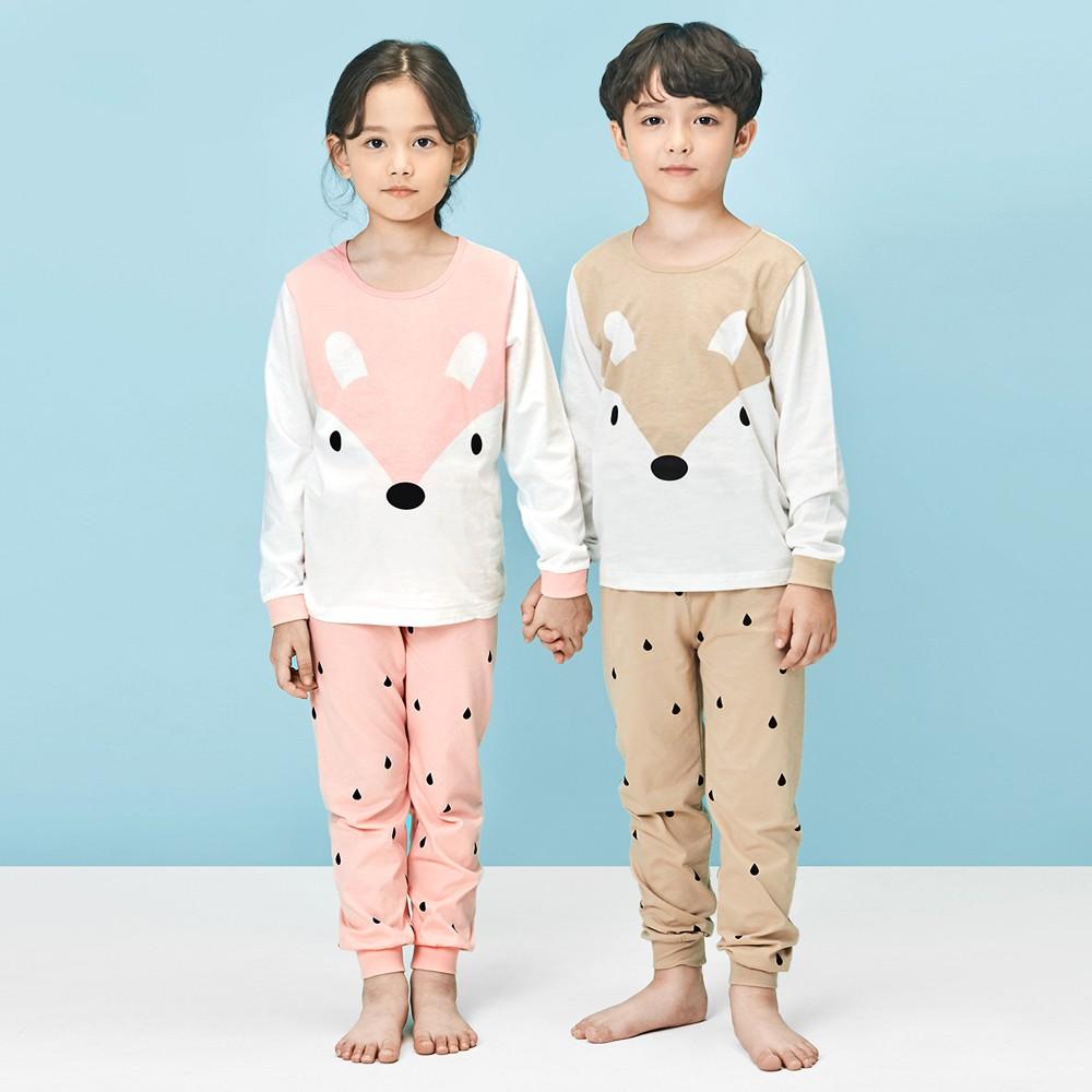 Bộ đồ cotton dài thu đông cho bé trai, bé gái của Unifriend Hàn Quốc UT02