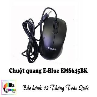 Chuột quang E-Blue EMS645BK I I Màu đen I Mouse EBlue EMS645 Black thumbnail