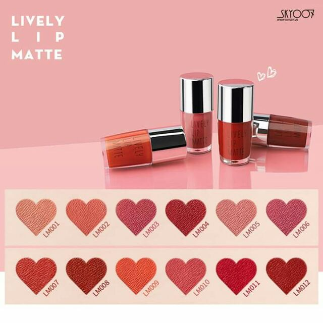 Son kem lì lively matte lip