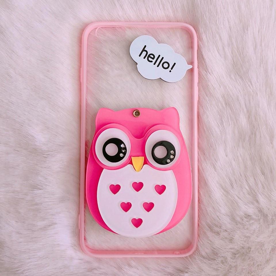 Ốp iPhone 6 Plus / 6s Plus gương cú cute