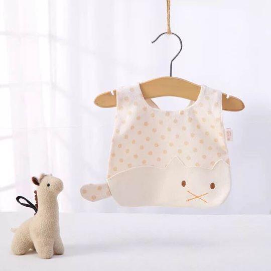 Yếm cotton hữu cơ hoạ tiết mèo