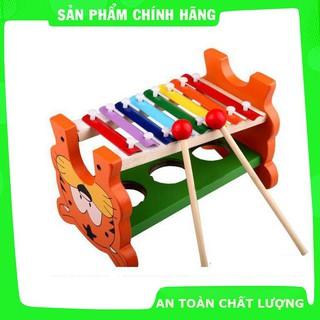 Đồ chơi đập bóng kết hợp đàn – Đồ chơi gỗ an toàn cho bé_Hàng tốt