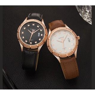 Đồng hồ nam YAZOLE 400 dây da chính hãng cao cấp Fullbox chống nước tốt AH484 thumbnail
