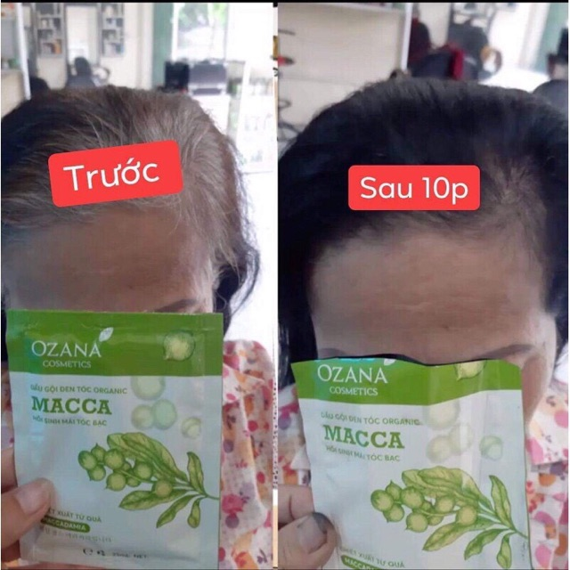 Dầu gội đen tóc,dầu gội đen tóc thảo dược dành cho tóc bạc, tóc bạc sớm OZANA (Chính Hãng 100%) MÃ OZA02