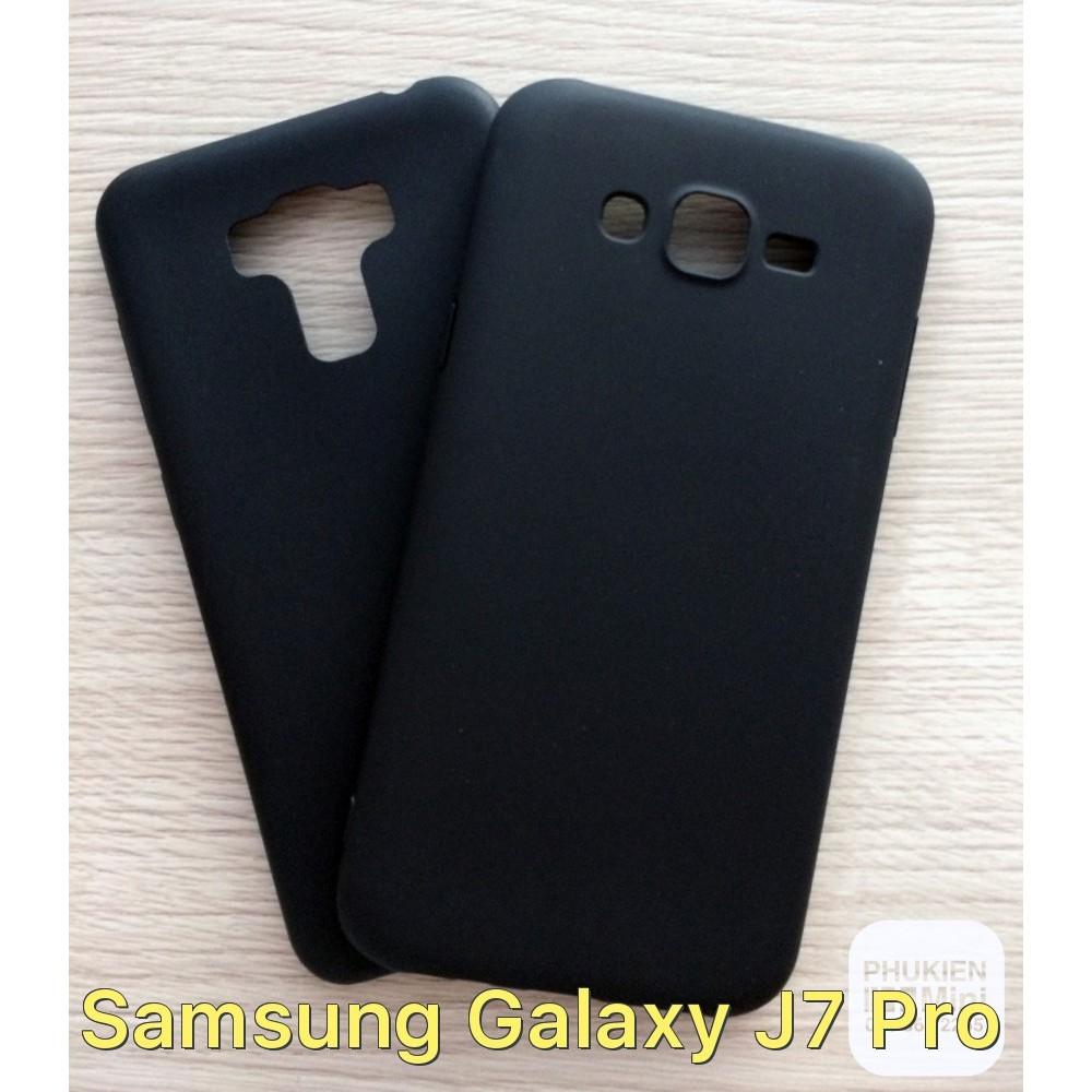 Ốp lưng dẻo nhám màu đen cho Galaxy J7 Pro