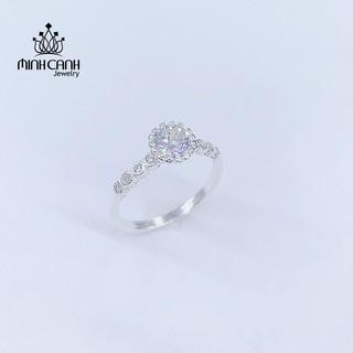 [Mã MCJ20 giảm 20K đơn từ 199K] Nhẫn Bạc Nữ Minh Canh Jewelry Đính Đá Tròn thumbnail