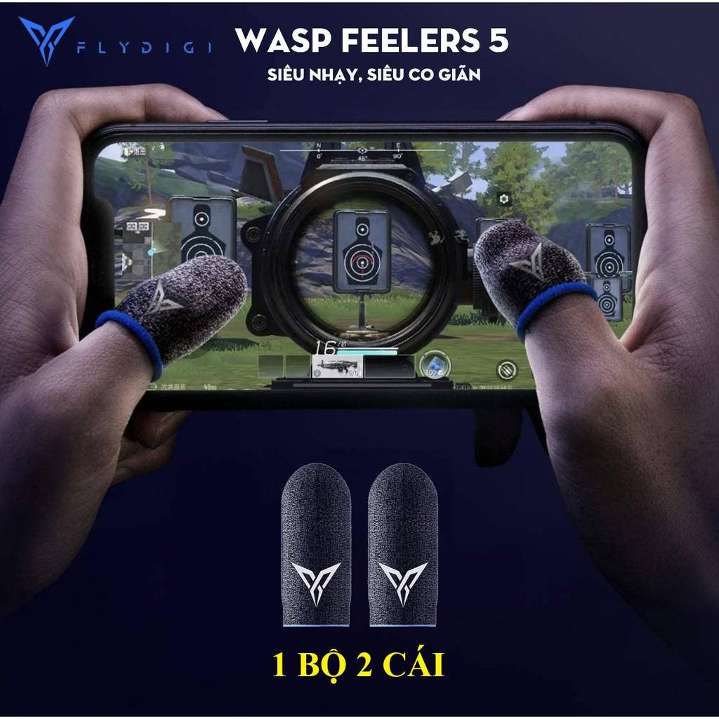 Flydigi Wasp Feelers 5   THẾ HỆ MỚI   Găng tay chơi game PUBG, Liên minh, chống mồ hôi, cực nhạy, không xù vải