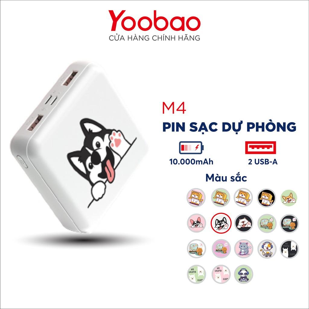 Sạc dự phòng 10000mAh Yoobao M4 mini - Hàng chính hãng - Bảo hành 12 tháng 1 đổi 1