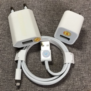 [HÀNG CHÍNH HÃNG + BH 1 NĂM] Bộ Sạc Tiêu Chuẩn Apple 5w Cho Mọi Dòng Iphone, iPad Chính Hãng – Hàng Zin Bóc Máy