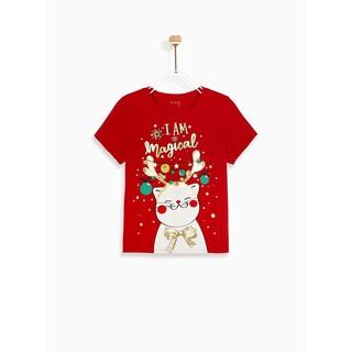 Áo thun bé gái ngắn tay Holiday Cat M.D.K