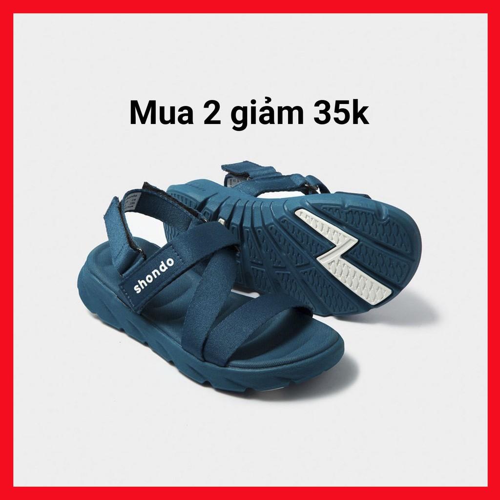 Giày Sandals Màu Xanh SHONDO|Shat F6 Sport - F6S303