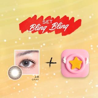 Combo Kính áp tròng DOLL EYES J.O GREY 14,3mm và Khay gương (Set Bling Bling) thumbnail