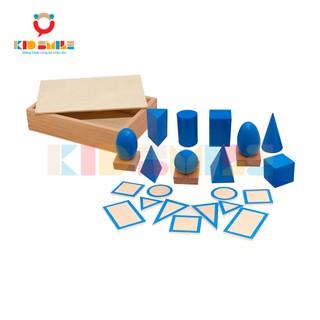 Đồ Chơi Thông Minh Hình Khối Có Đế Montessori (The Geometic Solids)