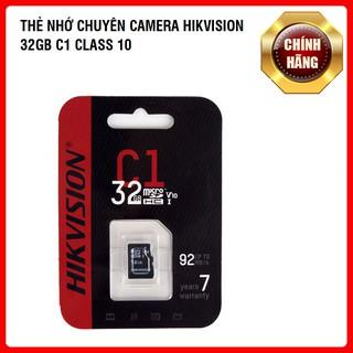 [CHUYÊN CAMERA] Thẻ Nhớ HIKVISION 32GB C1 Upto 92MB/S - Chính Hãng