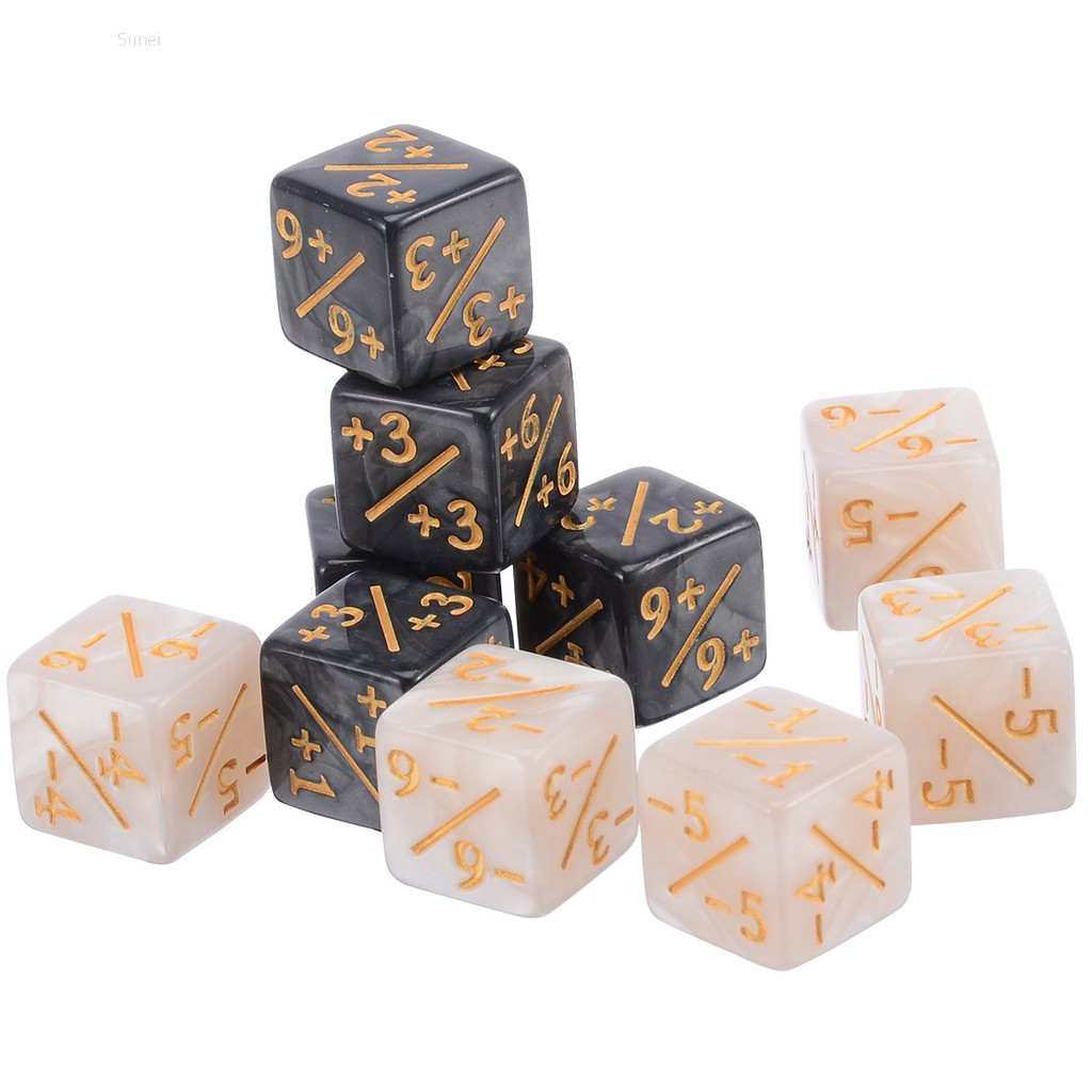 💗Sunei💗10pcs/set For Magic The Gathering Game Counting Counters +1/+1 Dice Kids Toy