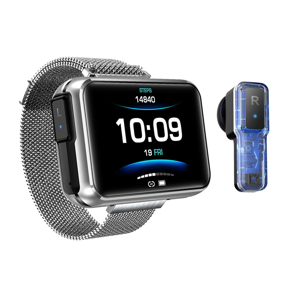 VYOO T91 Smart Watch Bluetooth Call Heart Rate Blood Pressure Waterproof Watch Built-in Earphone