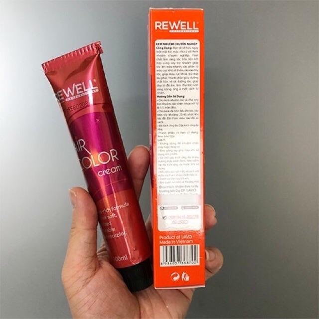 Nhuộm lavox chuyên nghiệp 3d nano collagen siêu dưỡng màu cam đất sáng 7/43 tặng kèm oxy trợ nhuộm và bao tay