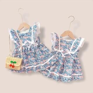 Váy Bé Gái 2 Nơ Cánh Tiên Hoa Hè [V02] - Babi mama