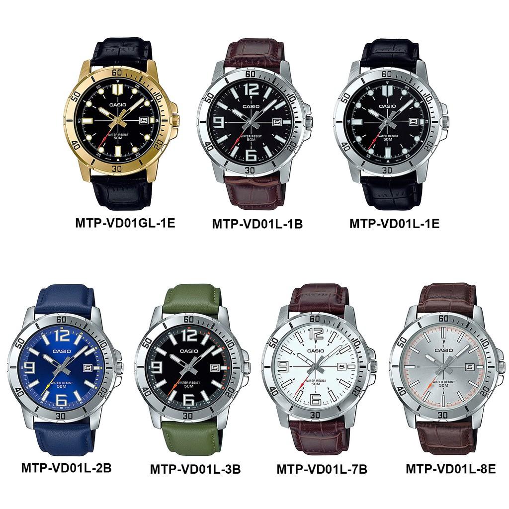 Đồng hồ nam dây da Casio Anh Khuê MTP-VD01