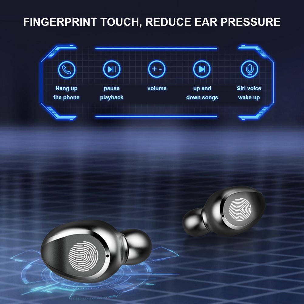 Tai nghe Bluetooth TWS F9 không dây nút cảm ứng kháng nước thể theo stereo
