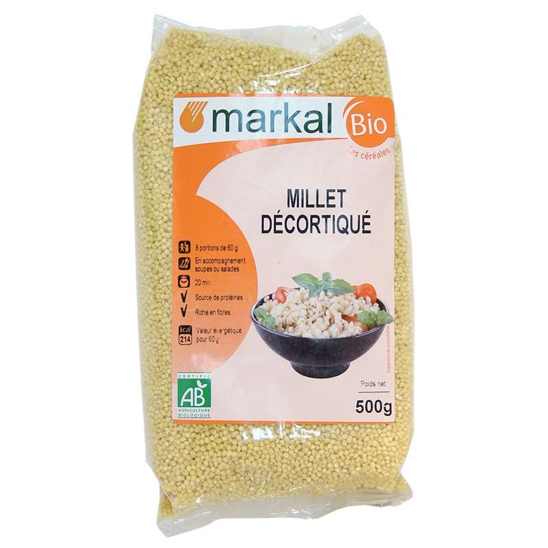 Hạt kê tách vỏ hữu cơ Markal 500g