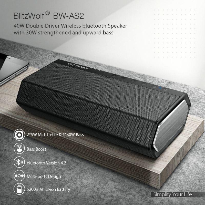 Loa bluetooth chính hãng blitzwolf bw-as2 40w