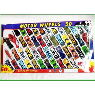 Vỉ 50 ô tô nhiều màu – Bộ sưu tập xe của bé