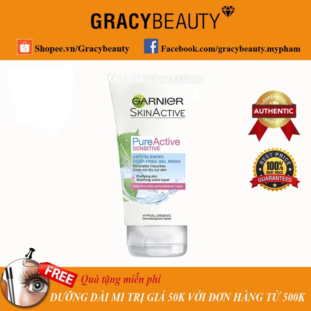 Sữa rửa mặt cho da mụn nhạy cảm Garnier Pure Active Sensitive Anti Blemish 150ml