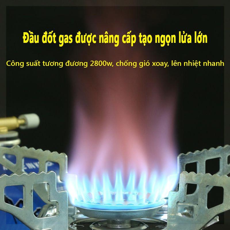 Bếp gas du lịch mini nhỏ gọn có dây nối bình gas an toàn - Bếp gas dã ngoại mini