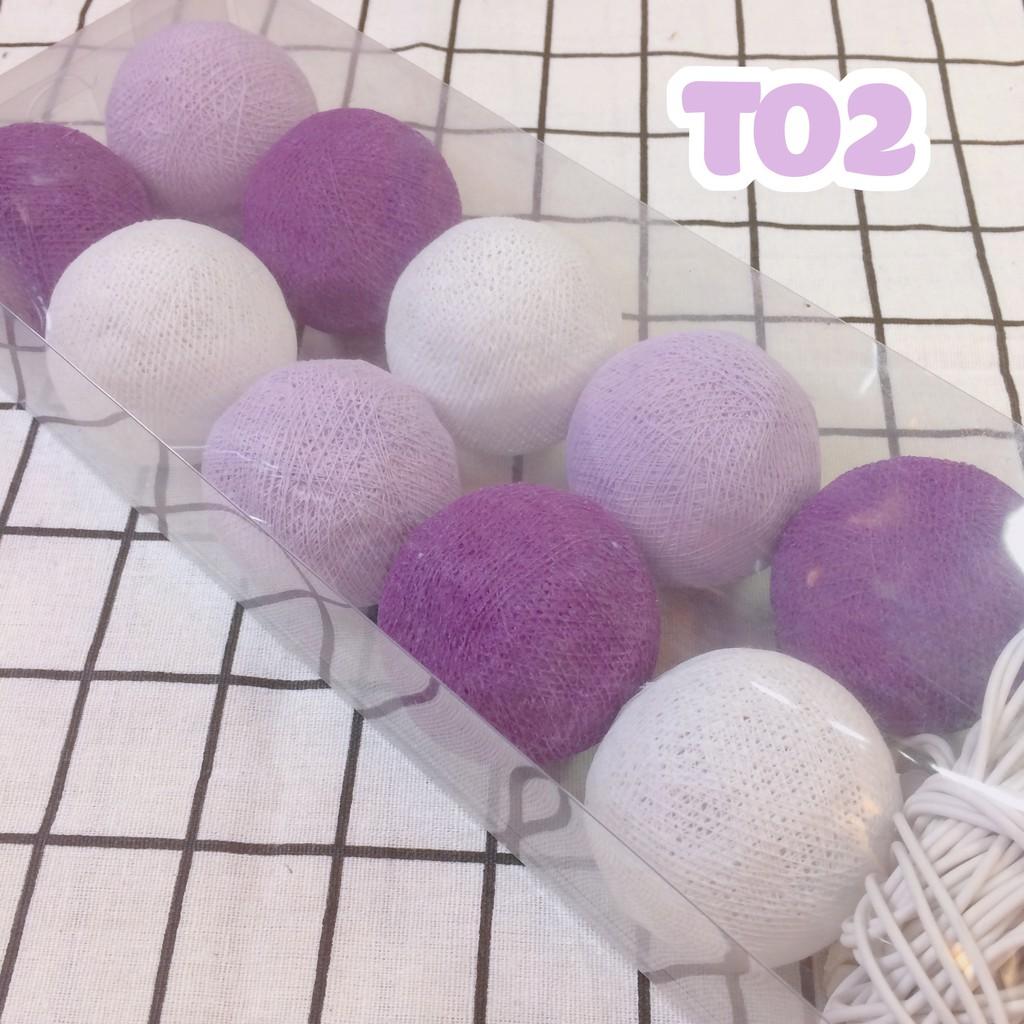 (CÓ LOAI PIN) T02 - Dây đèn Cotton Ball Thái Lan