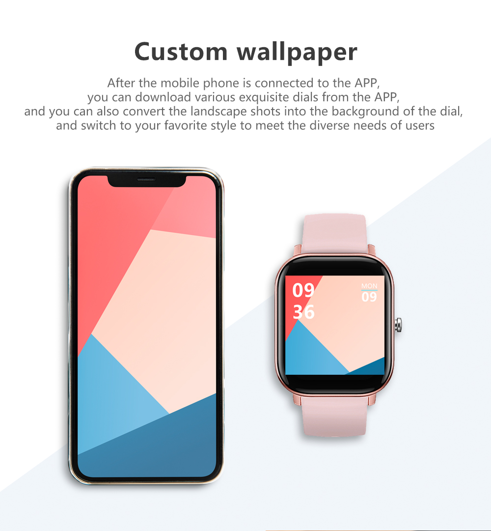 NEW P9 Smart Watch 1.54 inch Square Screen Bluetooth Call IPX7 Waterproof Long Standby Watches Blood pressure Heart Rate monitor Fitness Tracker