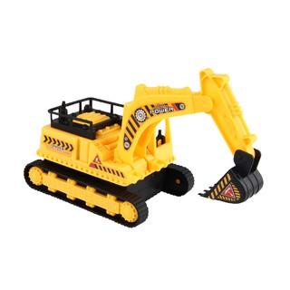 Kids Boys Excavating Machinery Excavator Vehicle Car Model Toy Gift