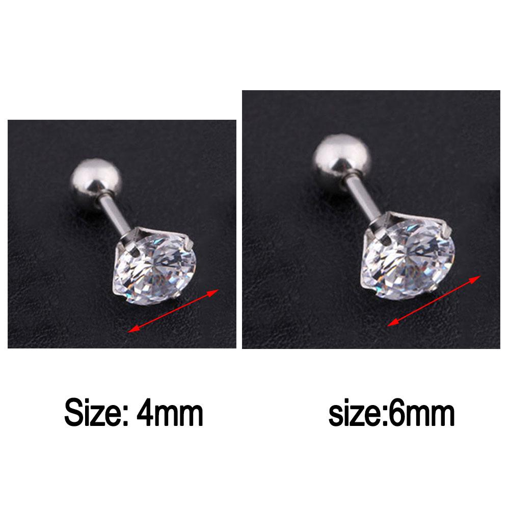 30f287336 1pc Punk and Fashionable Men Women Rhinestone Cartilage Tragus Bar Helix  Upper Ear Earring Stud Jewelry - 1pc Punk and Fashionable Men Women  Rhinestone ...