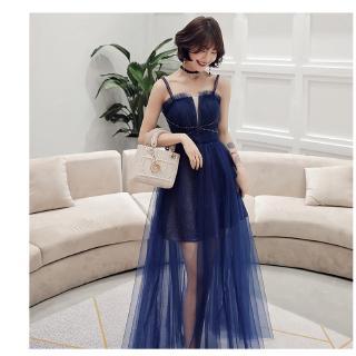 Đầm Dự Tiệc Tay Ngắn Thiết Kế Thanh Lịch Cho Nữ