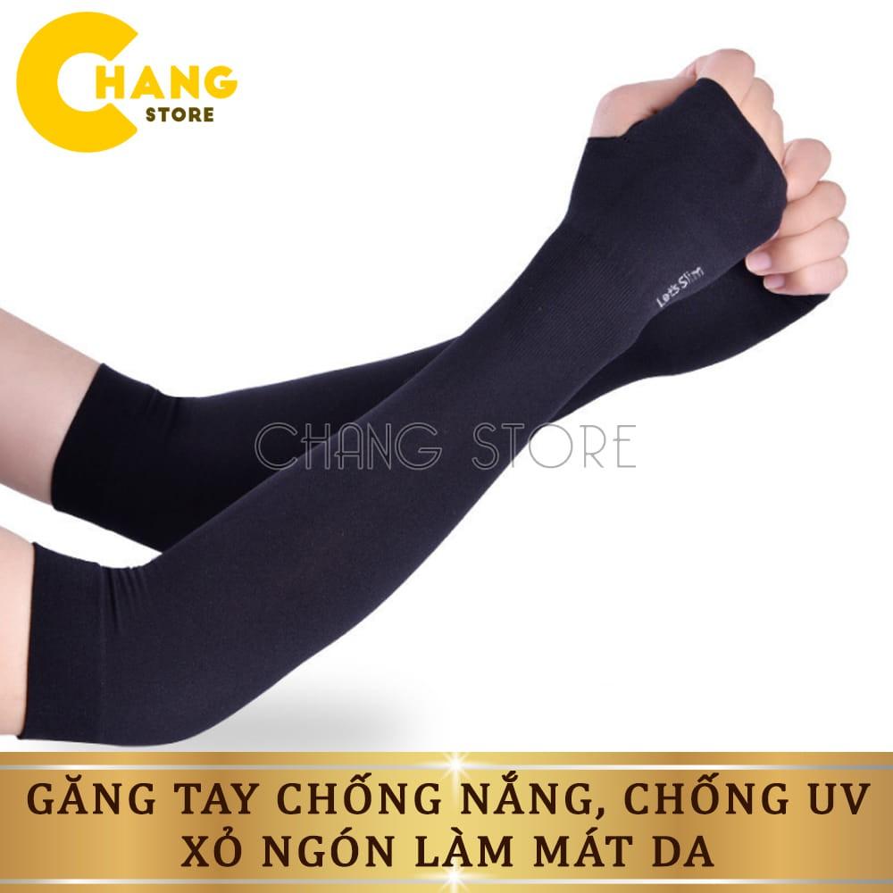 Găng tay chống nắng nam nữ chống tia UV, xỏ ngón được, làm mát da Hàn Quốc