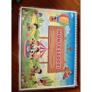 Bộ học liệu dính dán 12 chủ đề Montessori - phát triển toàn diện