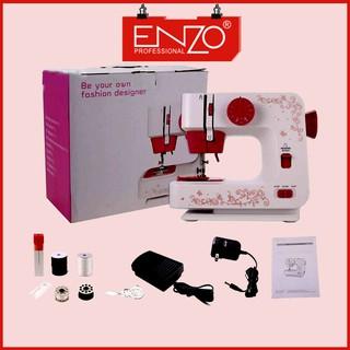Máy Khâu Mini ENZO PRO, Máy May Gia Đình Với 12 Kiểu Máy Khác Nhau, Phù Hợp Với Mọi Loại Vải - ENZO