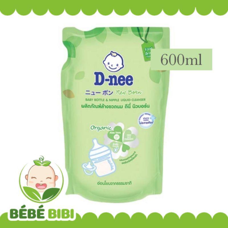 Nước rửa bình sữa D-NEE Dnee ORGANIC túi 600ml